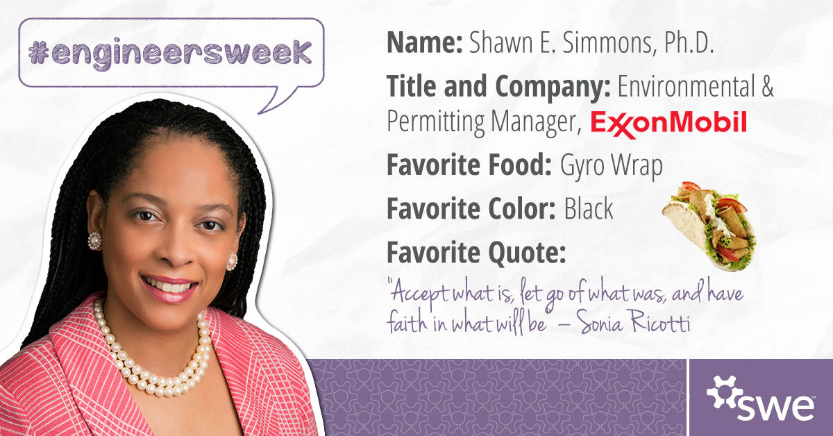 Engineers Week, Shawn E Simmons, Society of Women Engineers