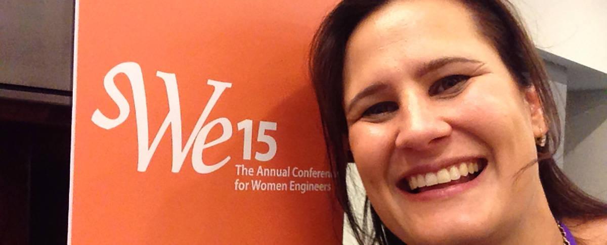 SWEscholar selfie, society of women engineers