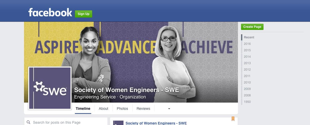 SWE Facebook Page