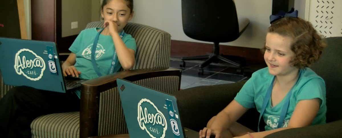 Watch Video: SWE Endorses Alexa Café All-Girls Tech Camp
