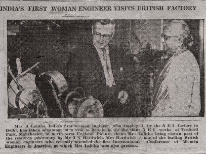 The First Woman Engineer in India []
