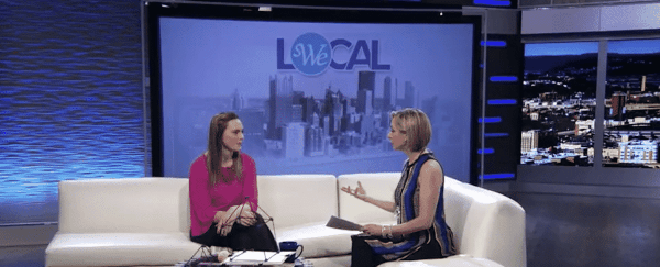 SWE Member Promotes WE Local and SWENext DesignLab on Pittsburgh TV