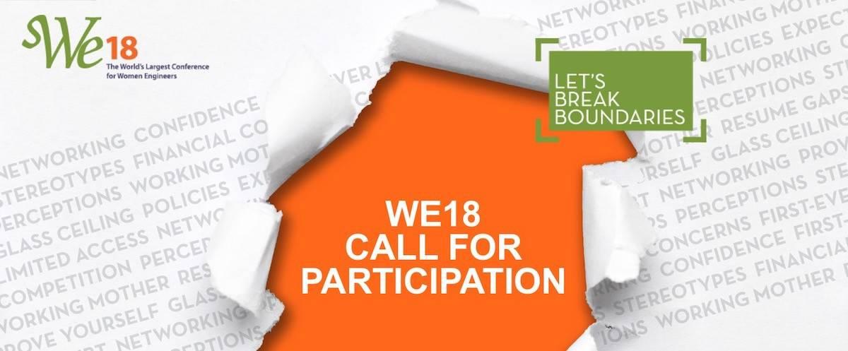 Let's Break Boundaries – Present at WE18!