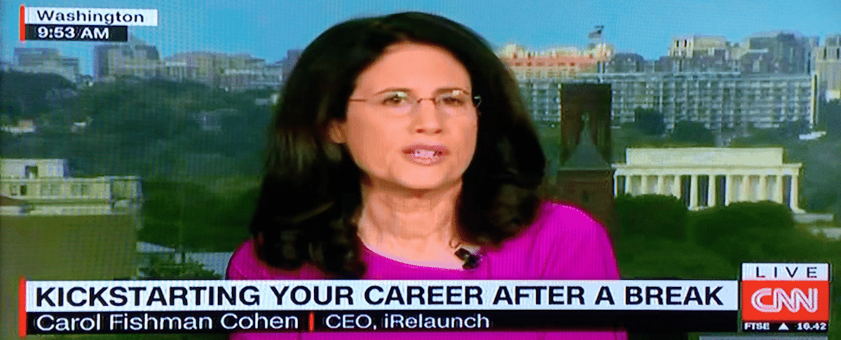 Learn about Relaunching Your Career at WE16 from Carol Fishman Cohen