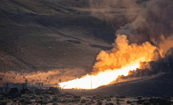 Space Launch System (SLS) Booster Test
