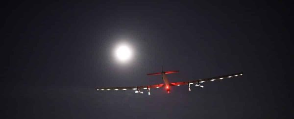 Solar Impulse 2: A String of Pearls Against a Black Velvet Sky