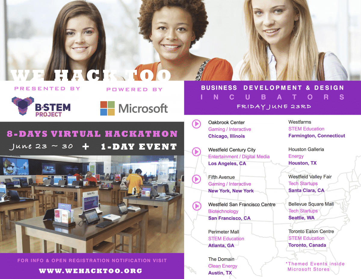 Register for We Hack Too - A Hackathon for Women and Girls