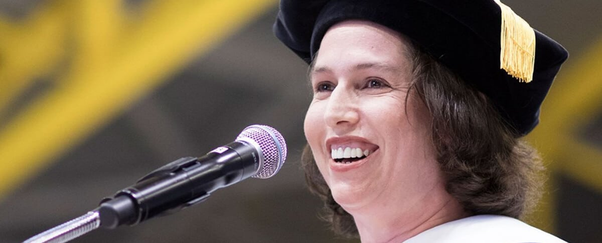 SWE's President Gave a Commencement Speech and Received Honorary Doctorate