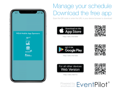 The WE18 App is Now Available WE18 App