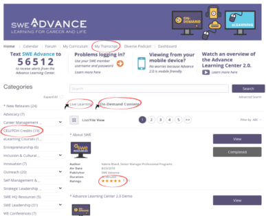 Advance Learning 2.0 Bulletin December 2018 - SWE Advance 2.0 Popular Features and Top 10 Courses of 2018