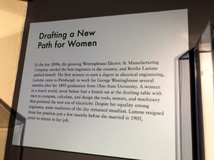 Bertha Lamme at the Heinz History Center