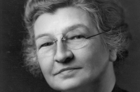 Black and white head shot of electrical engineer Edith Clarke