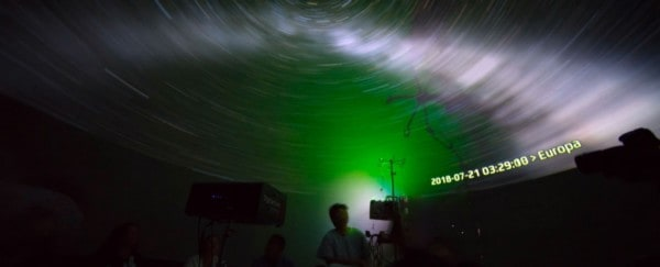 inside the portable planetarium