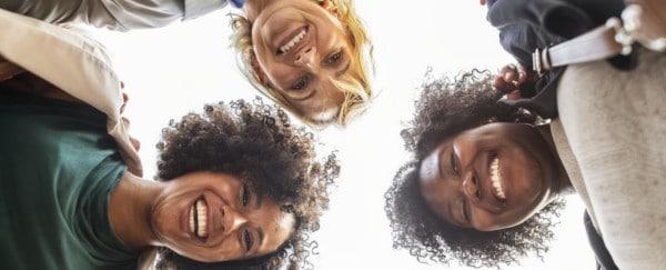 Group of Ladies looking down - FI
