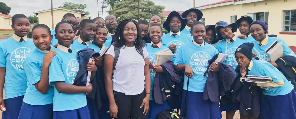Zimbabwe Students Outside