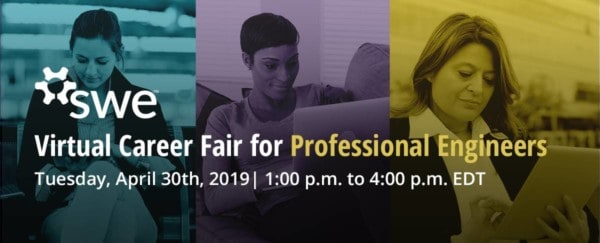 Meet your Future Employer at SWE's Virtual Career Fair this April 30th