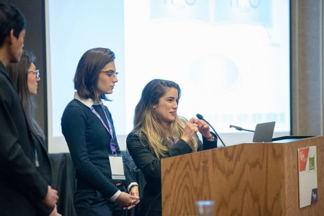Team HydroTube presenting at PepsiCo/SWE Student Engineering Challenge