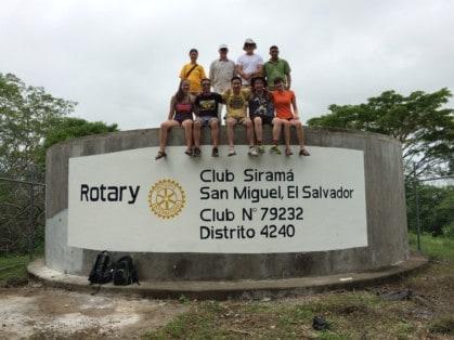 Becky Svatos with Rotary International