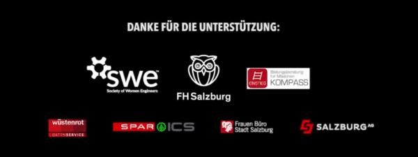 Sponsor logos SWE Affiliate FH Salzburg's Maker Day for Creative Girls