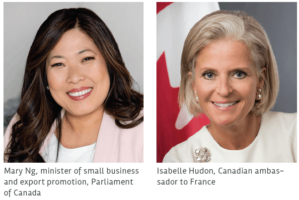 Minister Mary Ng and Isabelle Hudon