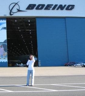 Davida Gondohusodo near Boeing hangar