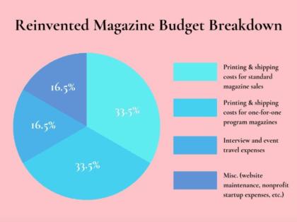 Reinvented Magazine budget breakdown