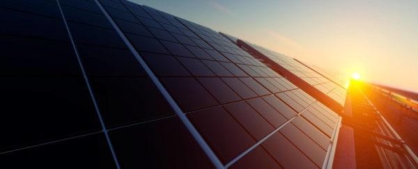 rooftop capturing solar energy via solar panels