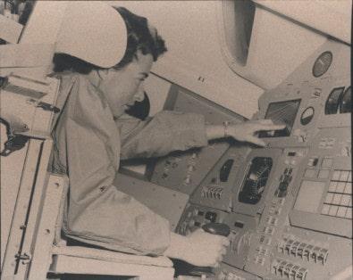 Barbara Crawford Johnson in NASA Apollo 11 shuttle