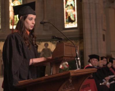 Renee Frohnert, Cornell University Commencement