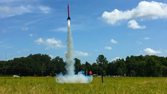 model rocket launch image from Baltimore Sun