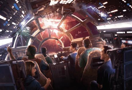 "Millenium Falcon — concept art for Disney's planned ""Star Wars: Galaxy's Edge"""