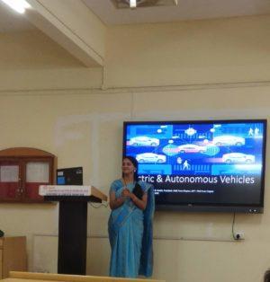 Vidya Chavan speaking at event