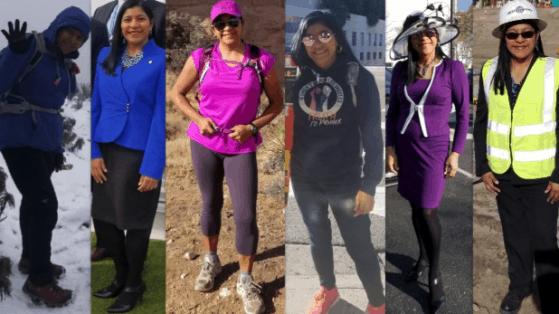 multiple photos of Evelyn Cortez-Davis