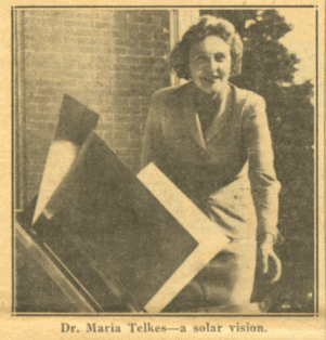 Maria Telkes with solar oven