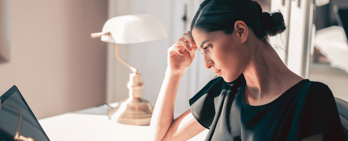 photo of woman thinking or contemplating