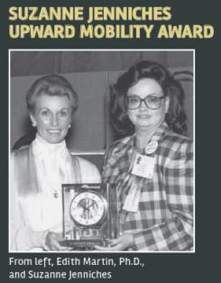 Edit Martin and Suzanne Jenniches hold Suzanne Jenniches Upward Mobility Award