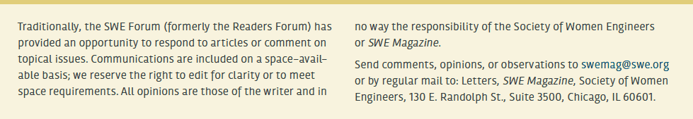 SWE Forum: Diversity WE19