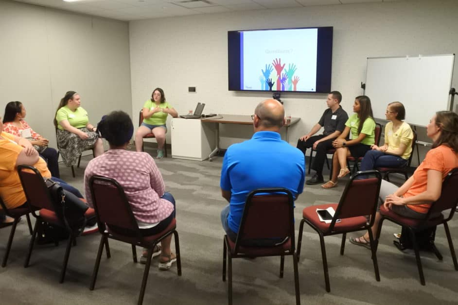 Philadelphia SWE STEM outreach event parent educator program group