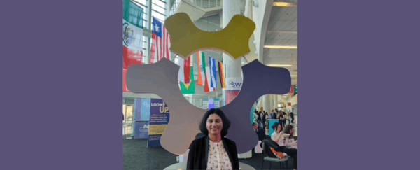 Rupali Patil at the Global Booth at WE19 conference