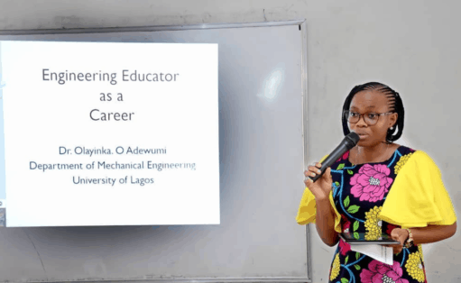 speaker at SWE Lagos Global outreach event