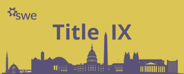 Title IX headline with Capitol Hill elements