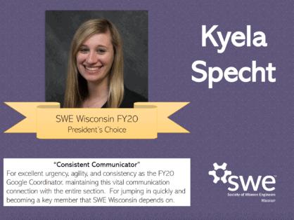 SWE Wisconsin Awards - Kyela Sprecht