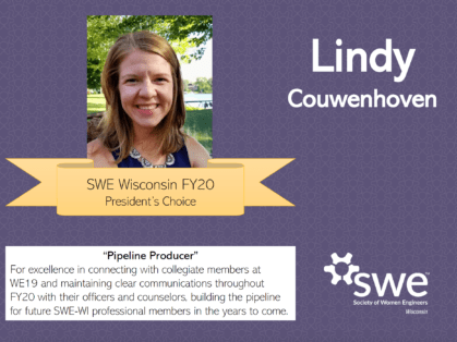 SWE Wisconsin Awards - Lindy Couwenhoven