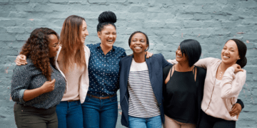 a group of diverse female friends or colleagues