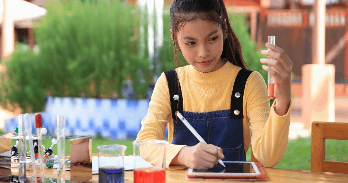 girl considering STEM career