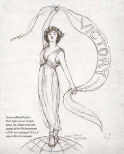 Nina Allender's Victory cartoon