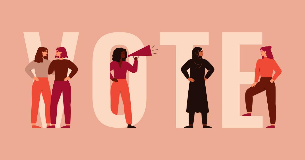 women voting illustration