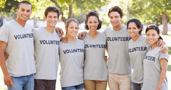 group of volunteers - volunteer experience