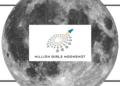 million girls moonshot logo over moon image