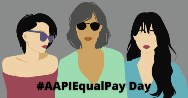 AAPI Equal Pay Day graphic